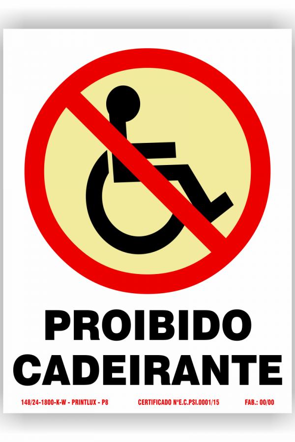P8 – proib cadeirante
