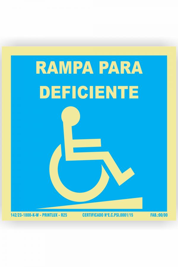 R25- Rampa para deficiente