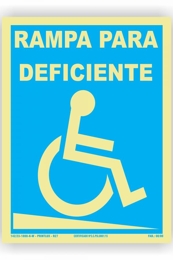 R27- Rampa para deficiente desce