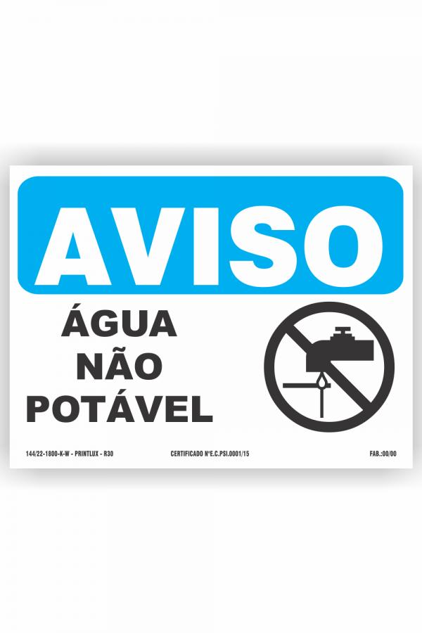 R30 – Aviso água não potável